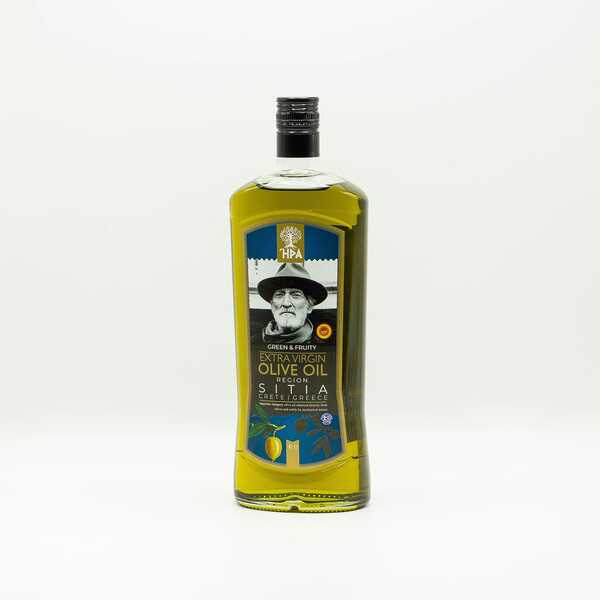 Оливковое масло HPA green and fruity extra virgin olive oil Sitia 1 л