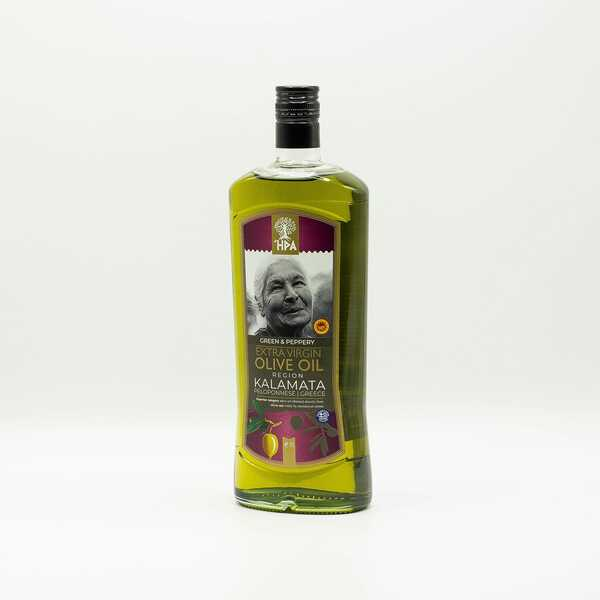 Оливковое масло HPA green and peppery extra virgin olive oil kalamata 1 л