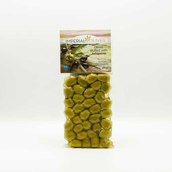 Оливки з начинкою халапеньо Imperial Olives Olives Suffed with jalapeno 250 г