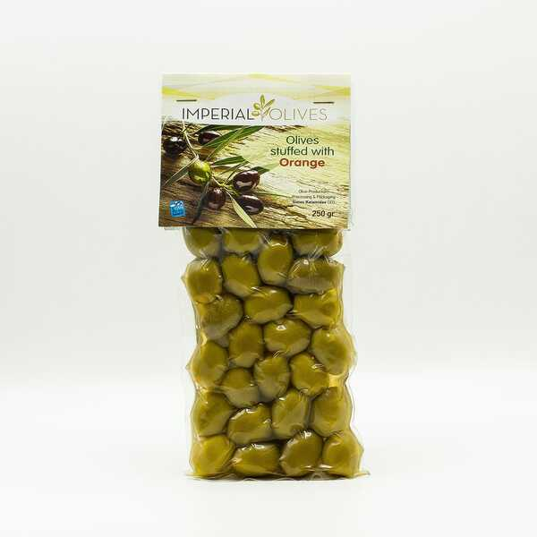 Оливки з начинкою апельсин Imperial Olives Olives Suffed with orange 250 г