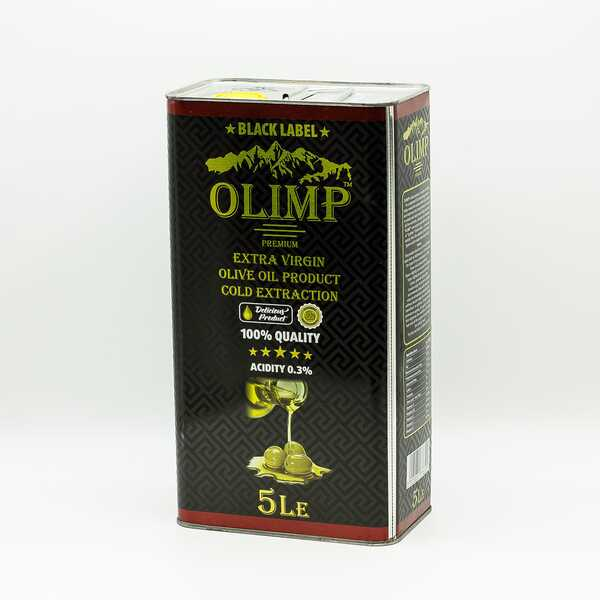 Оливковое масло Olimp Black Label Extra Virgin Olive Oil Cold Extractions 5 л